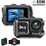 50M Underwater Waterproof Cam Without Case, DR.Q Action Camera 4K 16MP WiFi Ultra HD Sports Camera (2018 Upgraded) Wide Angle Lens Camcorder with Sony Sensor, Remote Control, Upgraded Battery and Mounting Accessories Kit