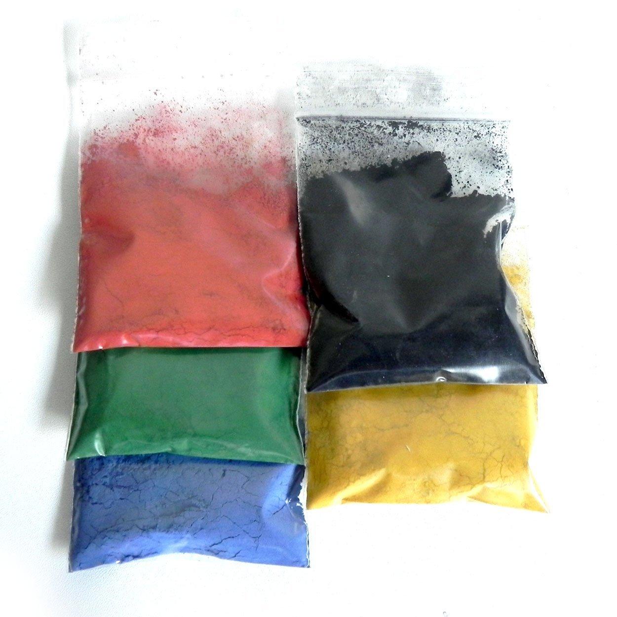 5 pigmenti di colore per la malta di cemento, calcestruzzo Alea Mosaik 400057