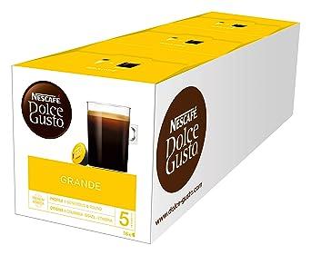 NESCAFÉ Dolce Gusto Grande Kaffee | 48 Kaffeekapseln | 100% Arabica Bohnen | Feine Crema und kräftiges Aroma | Schnelle Zuber