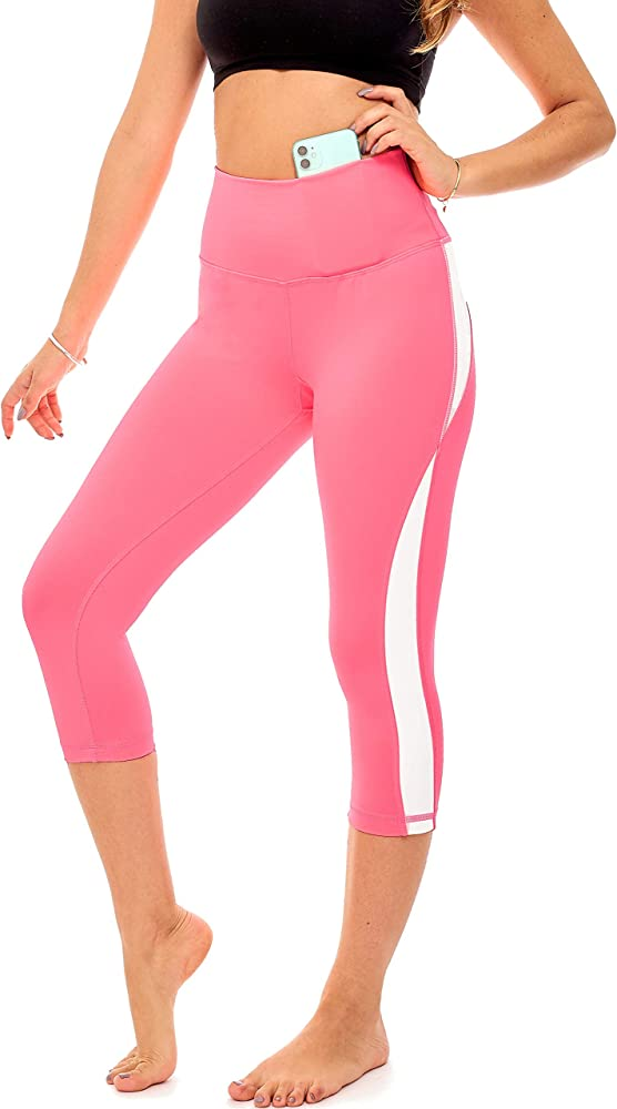 Yoga Athletic Short for Women S4 DEAR SPARKLE High Waist Workout Shorts with 3 Pockets for Women