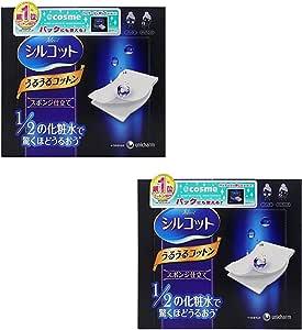 Esponja facial Unicharm Silcot Uruuru de algodón, 40 láminas, 2 paquetes: Amazon.es: Belleza