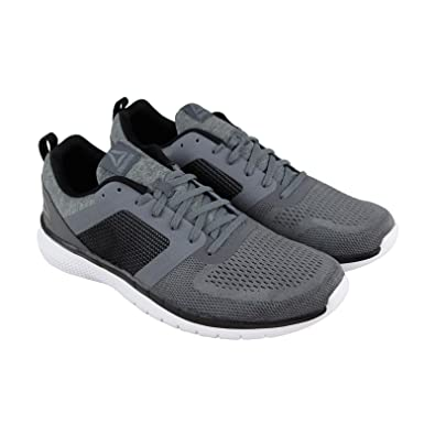 b8f5ecdc331fdd Reebok Pt Prime Run 2.0 Mens Gray Textile Athletic Lace Up Running Shoes 7.5