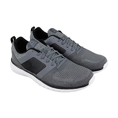 e18258c65ed3c Reebok Pt Prime Run 2.0 Mens Gray Textile Athletic Lace Up Running Shoes 7.5