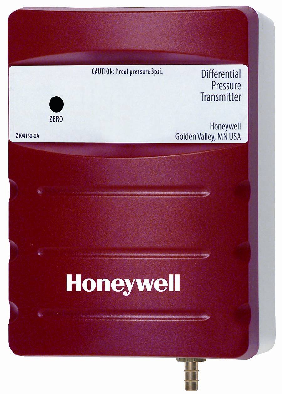 Honeywell, Inc. P7640B1016 Differential Pressure Sensor, Duct Mount, No Display