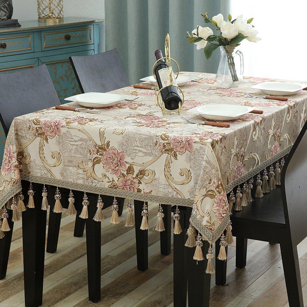 140160cm Nappes Beige européennes Tissu Rectangulaire pour la Maison Salon Nappe Ouest Table Nappe Table Nappe Nappe (Taille  ) par SHOME