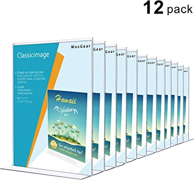 Amazon.com: MaxGear - Soporte para carteles de acrílico en ...