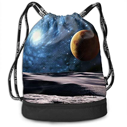 Cooby Roman Unisex Multifunctional Bundle Backpack - Space Planets Funny  Graphics Print Drawstring Backpack - Portable ce154f8a0e649