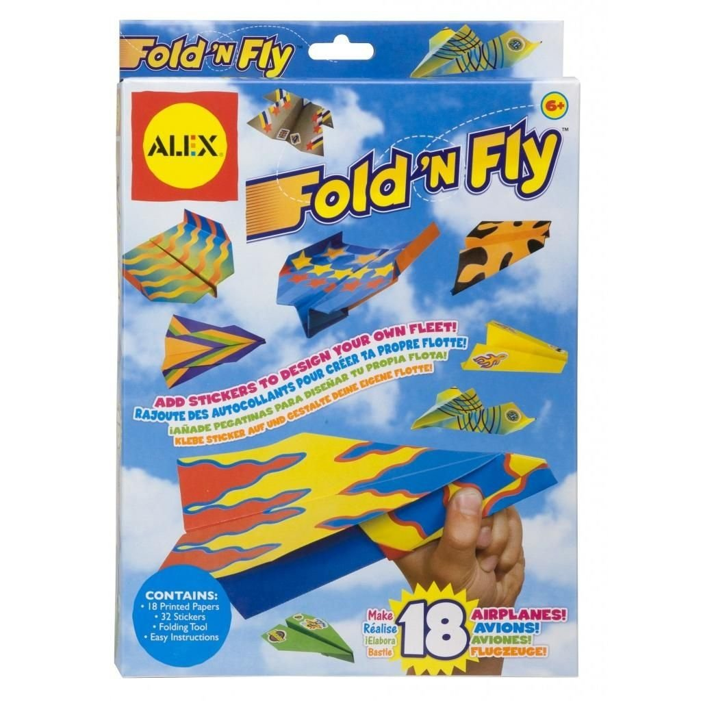 amazon com fold n fly paper airplanes kit alex toys arts crafts
