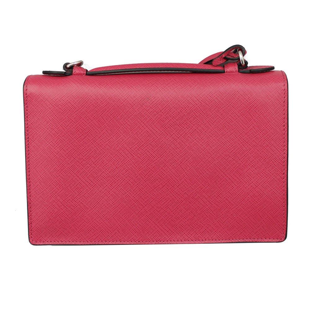 e78eb9732ef3 Amazon.com  PRADA Pink Saffiano Leather Clutch Bag W Strap Bt0960 Peonia   Clothing