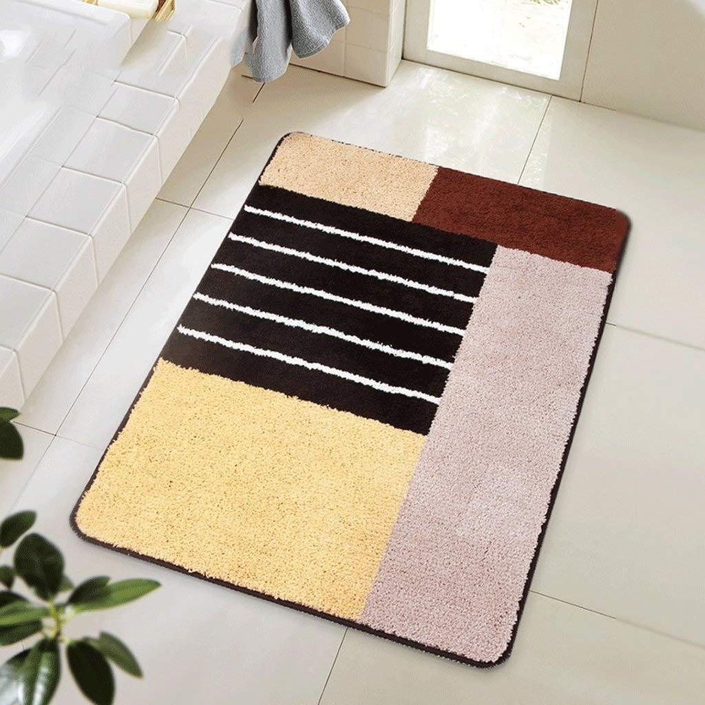 KuangfuMall 浴室のドアのマット、寝室の台所正面玄関のための吸収性の滑り止めのパッド機械洗濯できるカーペット (Color : A, サイズ : 60*90CM) B07RGFDX2P A 60*90CM