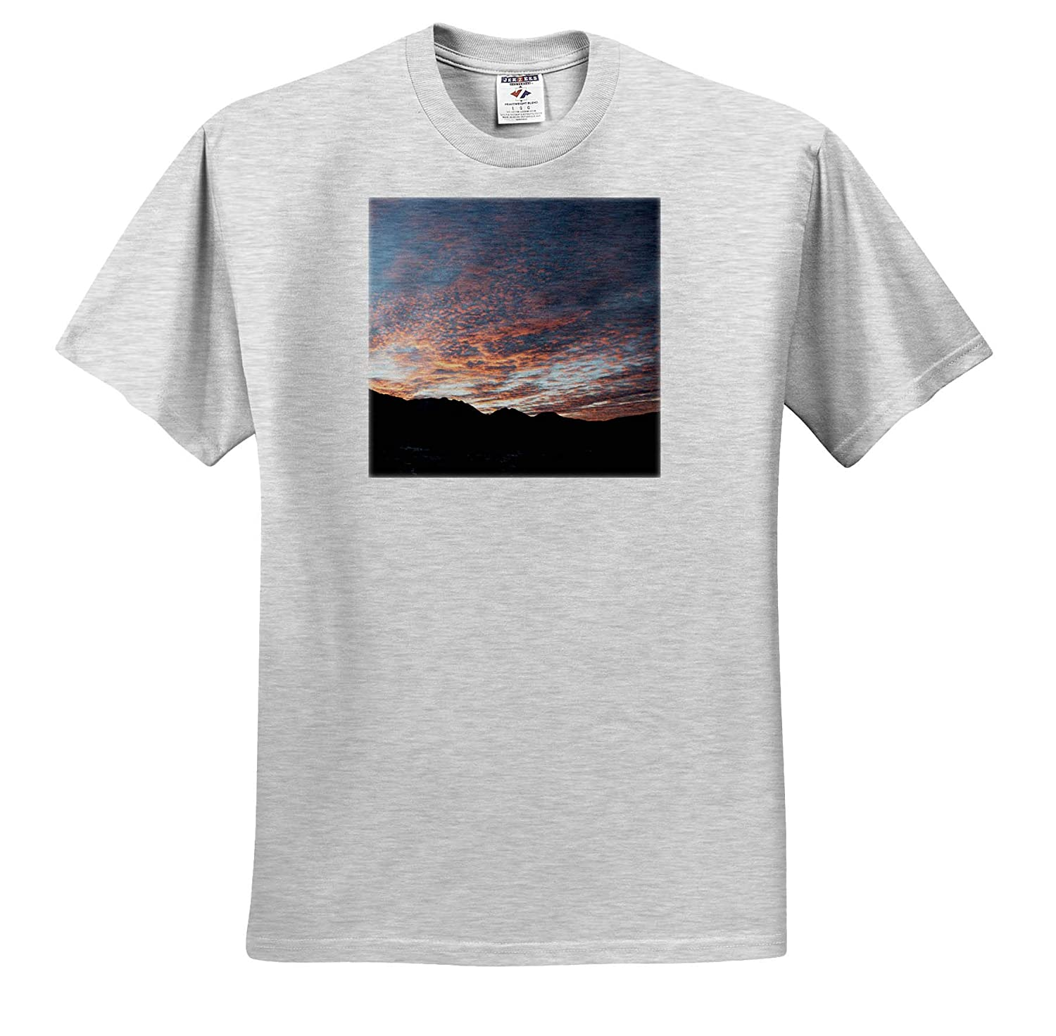 A Beautiful red Sunset in Winter time ts/_320049 3dRose Jos Fauxtographee- Sunset Adult T-Shirt XL