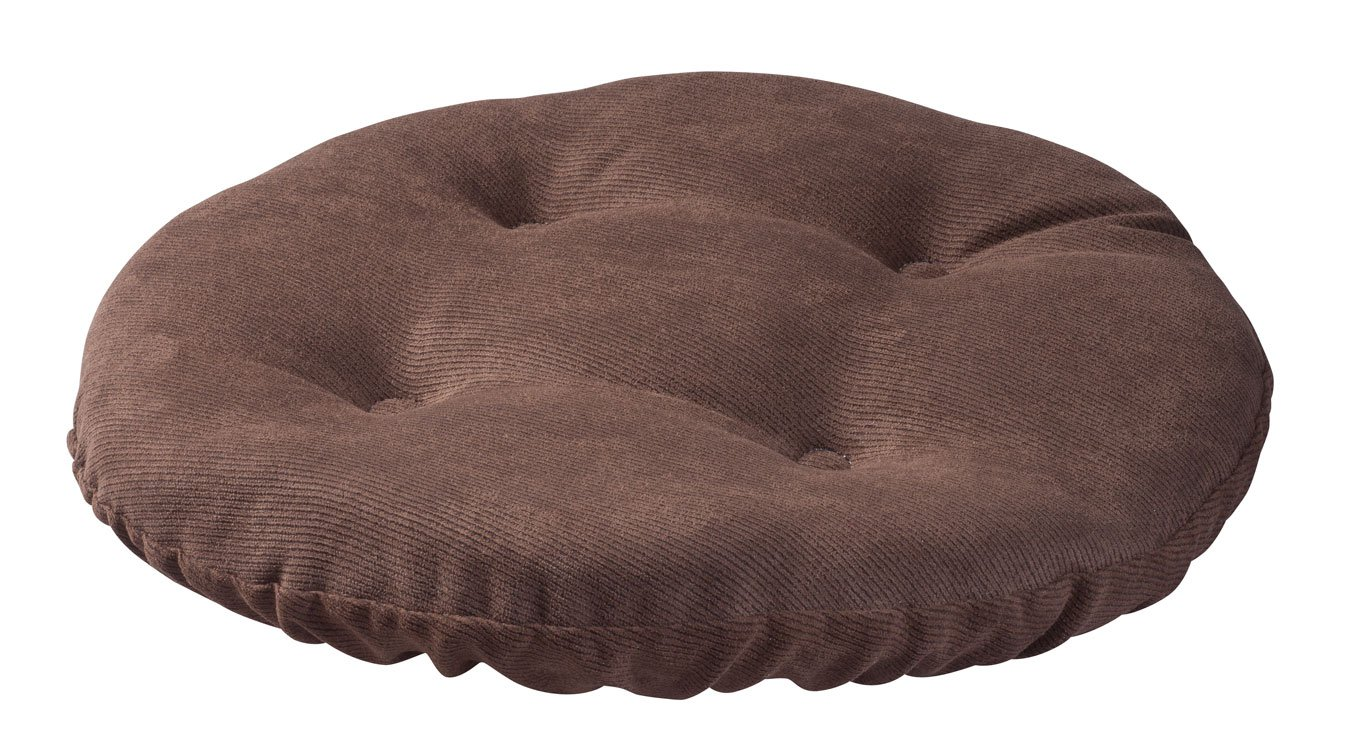 Twillo Bar Stool Seat Cushion – Tufted Round Stool Cover Non-slip Seat Cushion - Padded for Comfortable Sitting – 13 Inch Brown by Miles Kimball