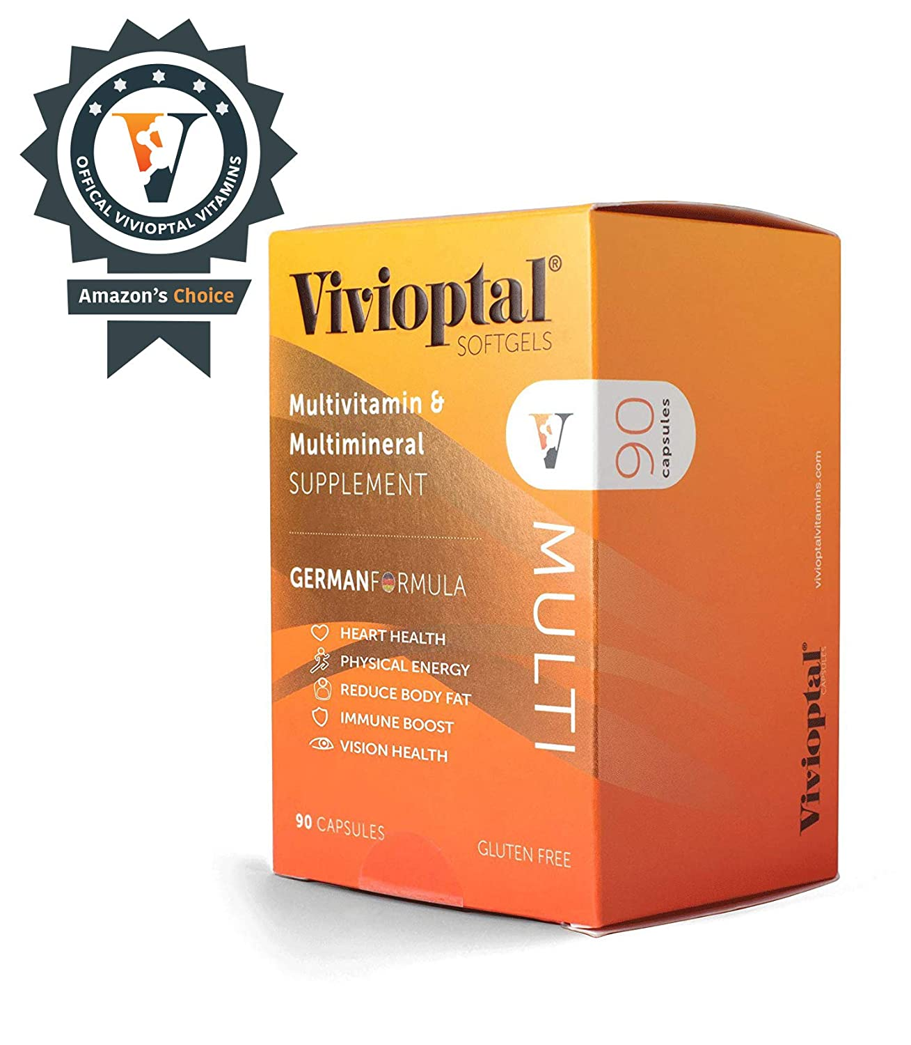 Vivioptal Multi 90 Capsules – Multivitamin Multimineral Supplement – Lipotropic Substances Trace Elements