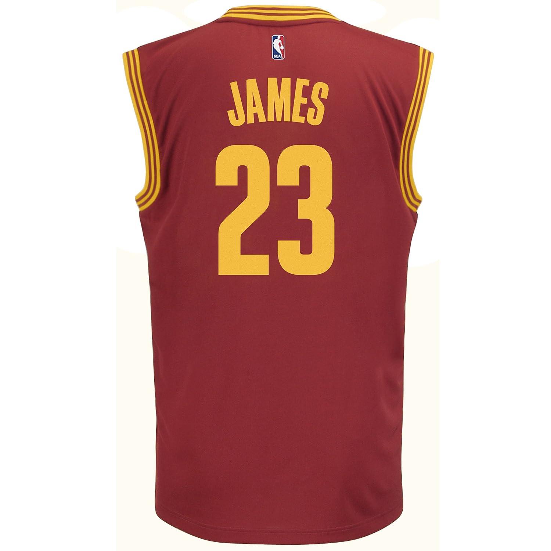 NBA Cleveland Cavaliers Lebron James  23 Men s Road Replica Jersey ... 0692cd656