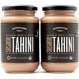 Organic Stone-Ground Whole Sesame Tahini Paste, Unhulled, Unsalted, Non-GMO, Gluten-Free, Kosher, Vegan, Organic, Peanut-Free