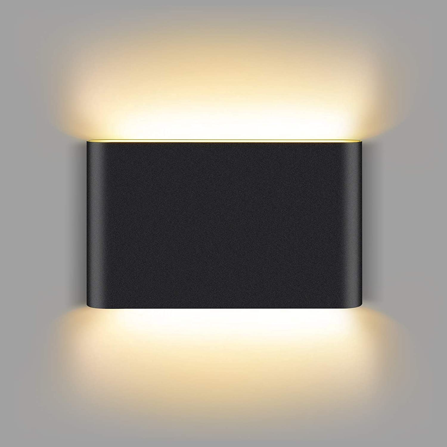 Unicozin Black Modern LED Wall Sconce 9W Warm White 3000K, 22 LED Chips 600LM, Up and Down Sconce Wall Lighting for Living Room Bedroom Hallway Home Room Decor