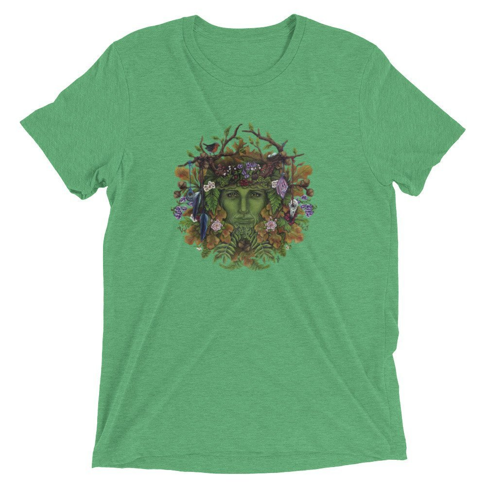 Greenman Celtic Druid Ashwood Arts Short Sleeve t-Shirt