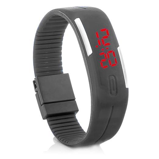 """c.d.r. silicona reloj digital LED reloj de pulsera LED Watch Reloj digital Gris"