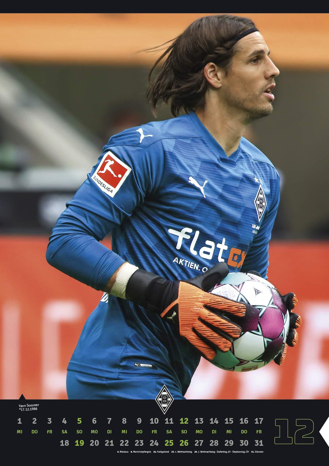 Borussia M/önchengladbach Kalender-Blechpostkarten