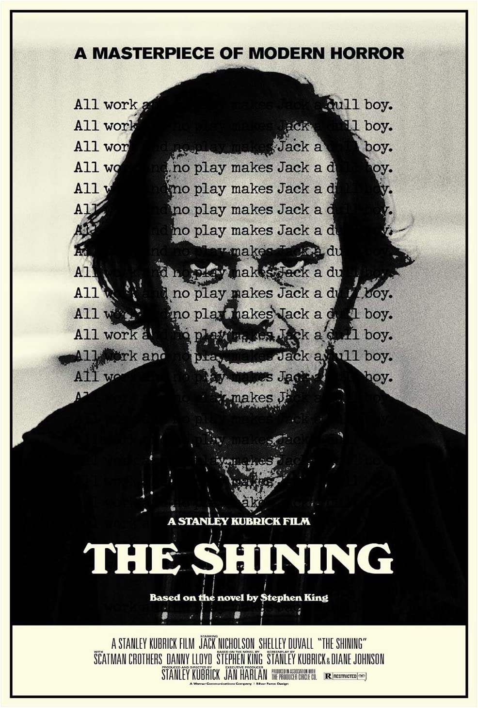 The Shining Stanley Kubrick Classic Horror Movie Tin Sign 8x12 Inches