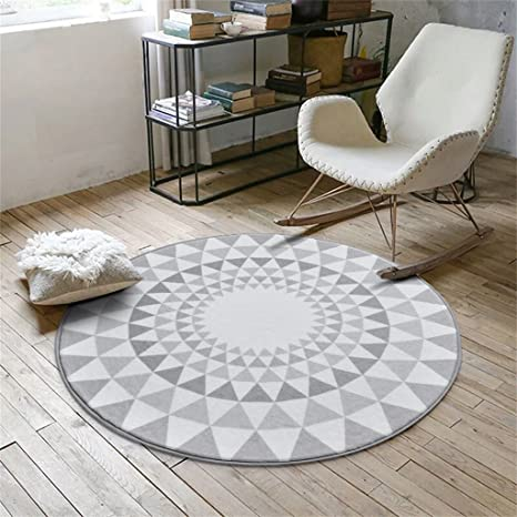 Amazon Com Area Decorative Rugs For Living Room Fashion Round