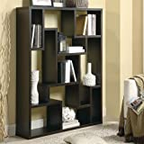 Coaster Furniture 9-Shelf Modular Asymmetrical Bookshelf, Cappuccino