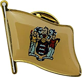 product image for Set of 6 New Jersey Single Waving State Flag Lapel Pin - Made in The USA