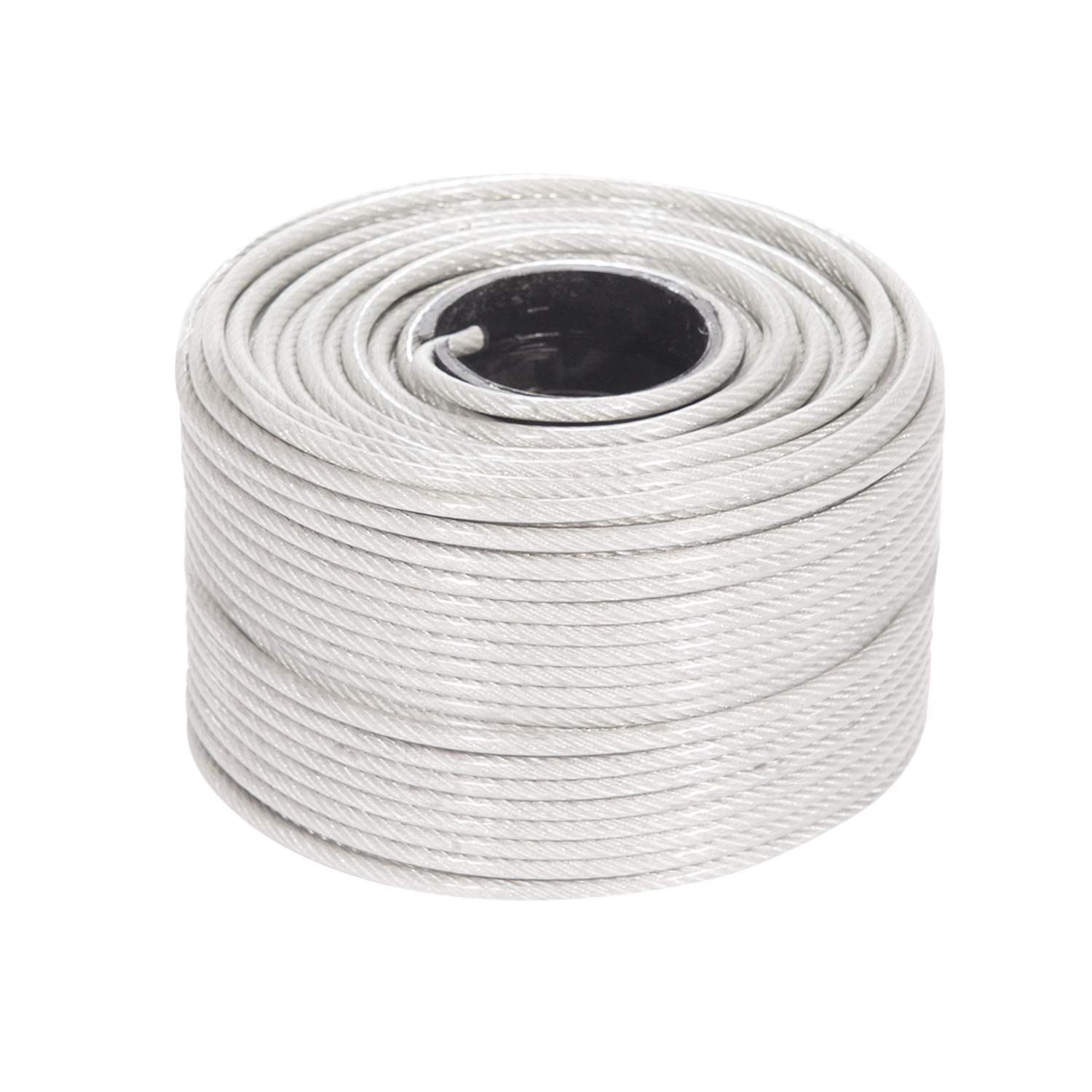 Tension Wires Zip Lines Plastic Reel for Clothes Line 7x19 Braided Strands Galvanized Metal Houseables Vinyl Coated Wire Rope 250 Feet 3//16-Inch 1//8-Inch Renewed Stainless Steel Aircraft Cable