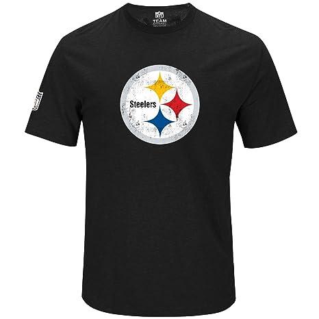 premium selection 3a8de 6843f Amazon.com : Majestic NFL Shirt - Hyper Pittsburgh Steelers ...