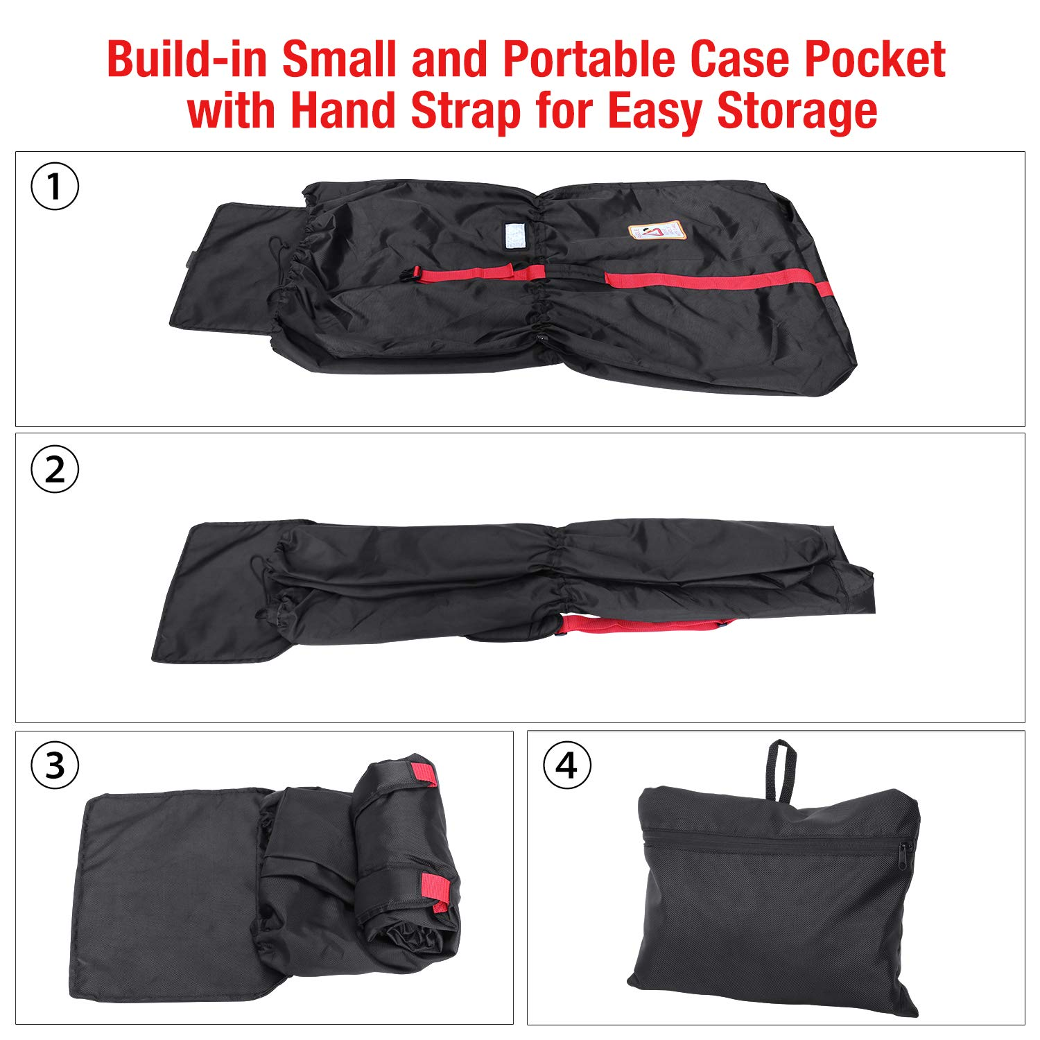 Modokit 1680D Durable Stroller Bag Airplane Travel Gate Check Bag Stroller  Storage Pouch 106c49256c56f
