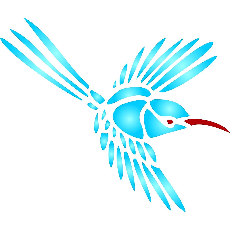 amazon com hummingbird stencil size 3 25