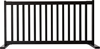 """product image for Dynamic Accents Amish Craftsman Kensington Series 20"""" Tall Free Standing Solid Wood Pet Gates are Handcrafted Large/Black"""