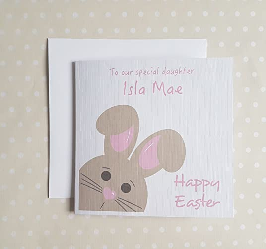 Personalised easter card for daughter granddaughter goddaughter personalised easter card for daughter granddaughter goddaughter niece sister or little girl negle Gallery