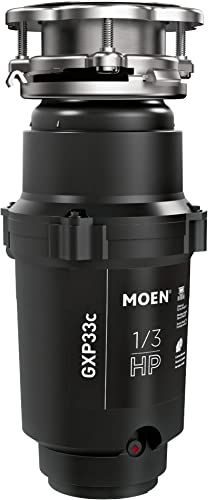 Moen GXP33C Lite Series PRO 1 3 HP Continuous Feed Garbage Disposal, Power Cord Included
