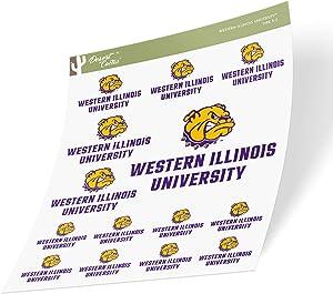Western Illinois University WIU Leathernecks NCAA Sticker Vinyl Decal Laptop Water Bottle Car Scrapbook (Sheet Type 3-1)