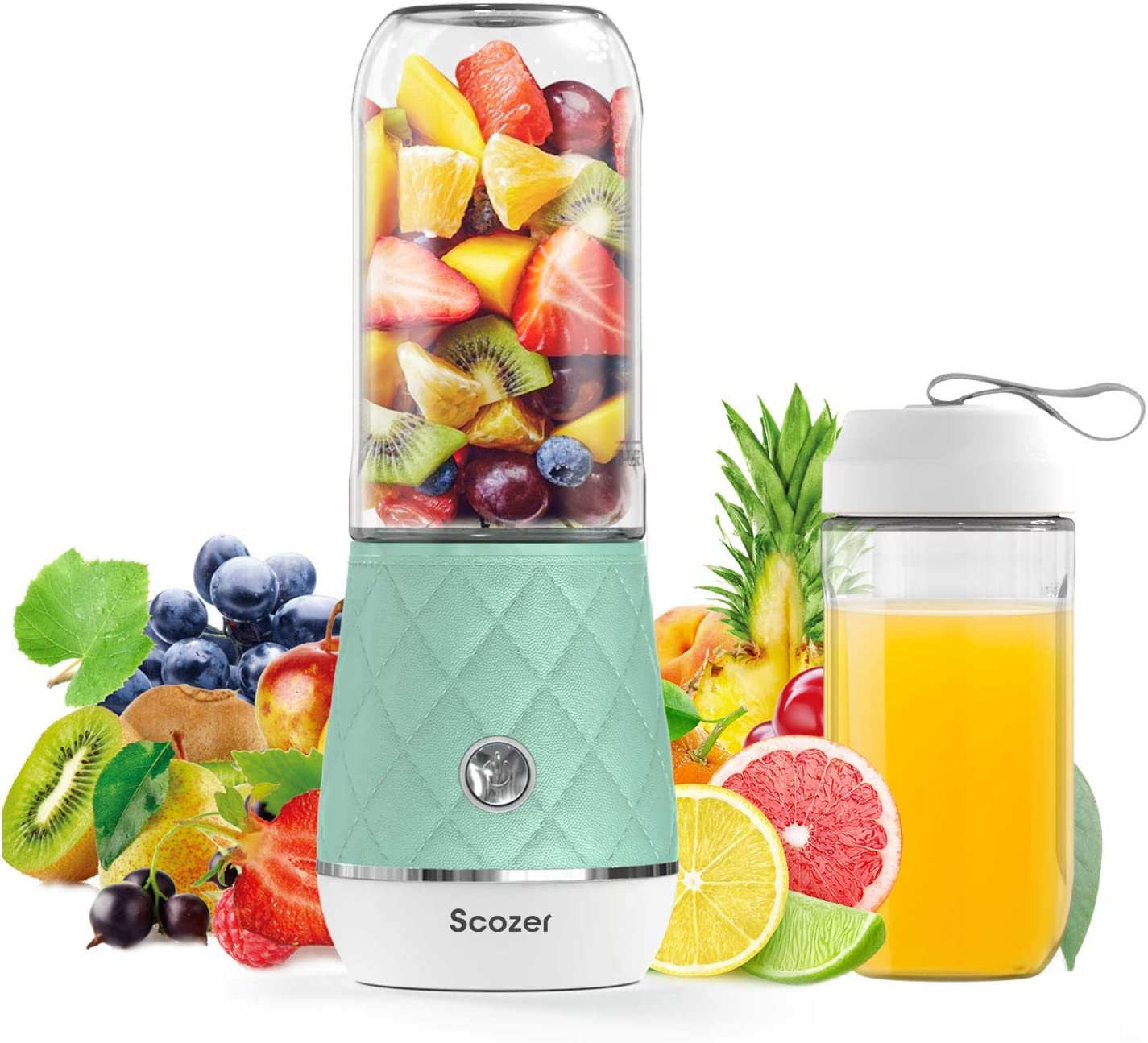 Portable Blender,Cordless Personal Blender Juicer,Mini Mixer,Waterproof Smoothie Blender with USB Rechargeable,BPA Free Tritan 300ml,Juicer Cup Mixer for Home,Office,Sports,Travel,Outdoors