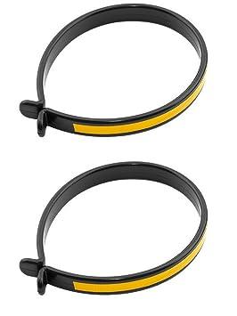Aros para sujetar pantalon y Reflectantes No ensuciarse Cadena de Bicicleta 3197: Amazon.es: Deportes y aire libre