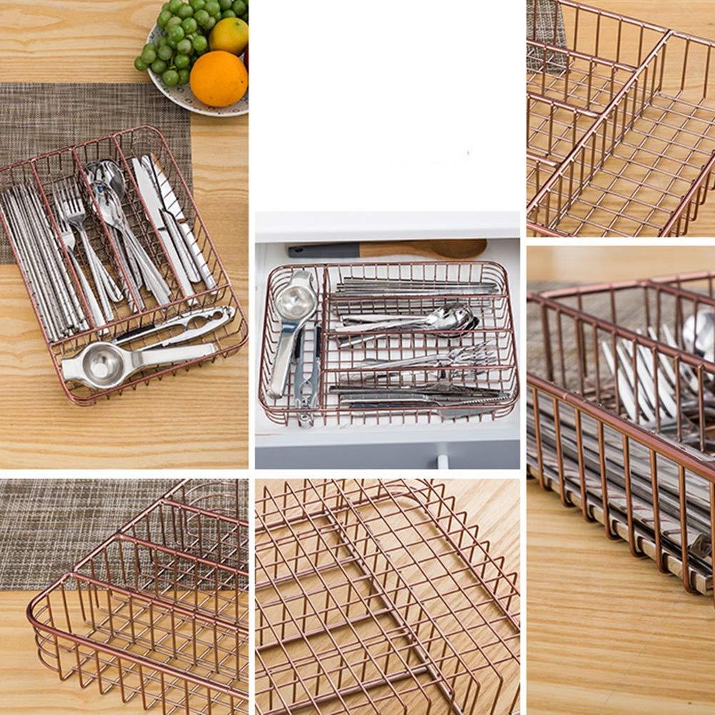 Shelf Storage Racks Pot Rack Storage Basket Shelf Baskets Cutlery Cage Storage Box Chopsticks Kitchen Drain Basket Rectangular Knife and Fork Basket ZHAOYONGLI by ZHAOYONGLI-shounajia (Image #5)