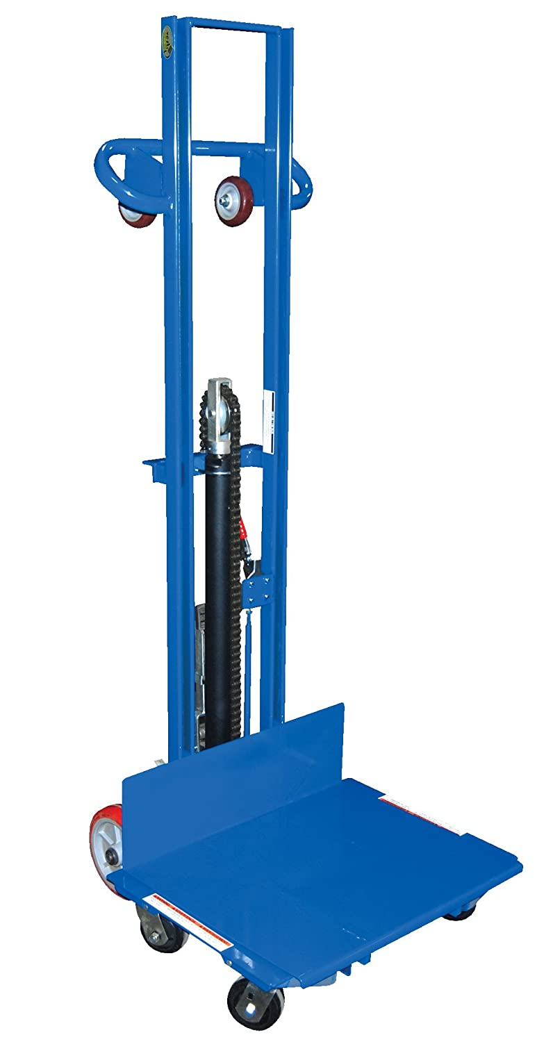 29-13//16 Length 500 lbs Capacity 68-15//16 Height 37-3//4 Width Vestil LLPH-500-4SFL Low Profile Lite Load Lift with Foot Pump Steel
