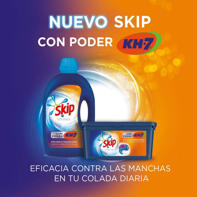 4 botellas de detergente líquido Skip Ultímate con poder KH7 por 28,99€