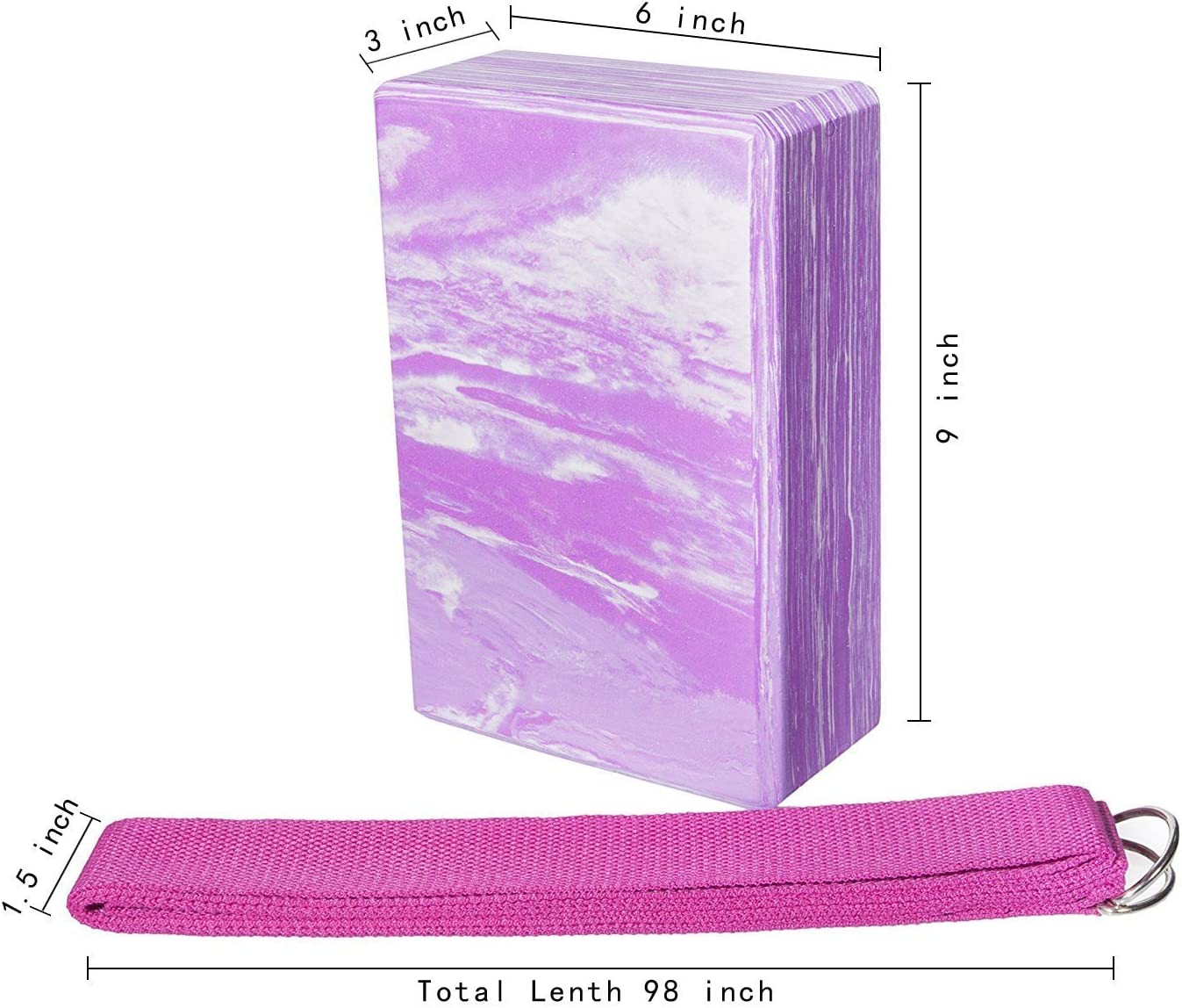 Mixte Yoport Bloc de Yoga en Mousse EVA Haute densit/é et Sangle