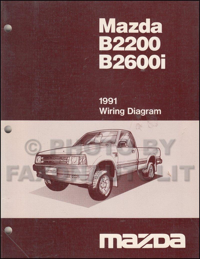 1991 mazda b2600i wiring diagrams 1991 mazda b2600i b2200 pickup truck wiring diagram manual  1991 mazda b2600i b2200 pickup truck
