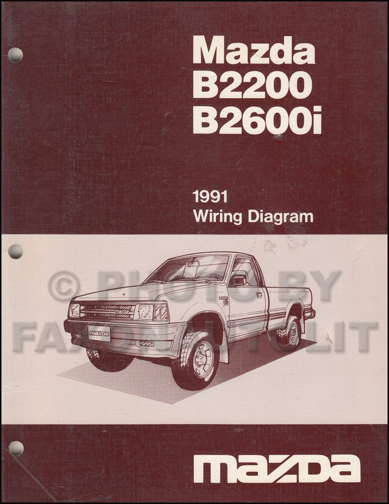 1991 mazda b2600i b2200 pickup truck wiring diagram manual original: mazda:  amazon.com: books  amazon.com