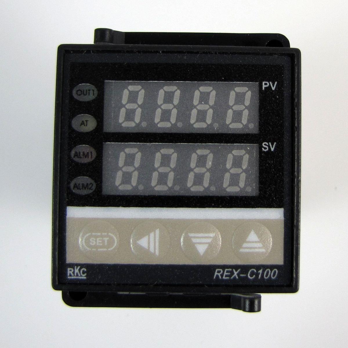 Nouvelle Tempé rature REX-C100 numé rique F / C ré gulateur PID contrô le thermocouple hercolor