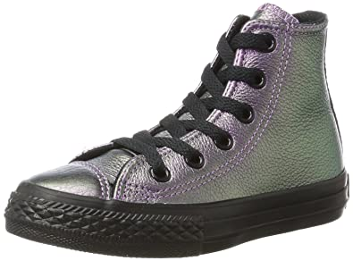 954622e3f722c0 Converse Chuck Taylor All Star Hi Violet Leather 1 M US Little Kid