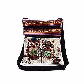 Frauen Handtaschen Eule Briefträger Vjgoal Taschen Umhängetasche Paketa Tragen Bestickt WDHIYbe9E2