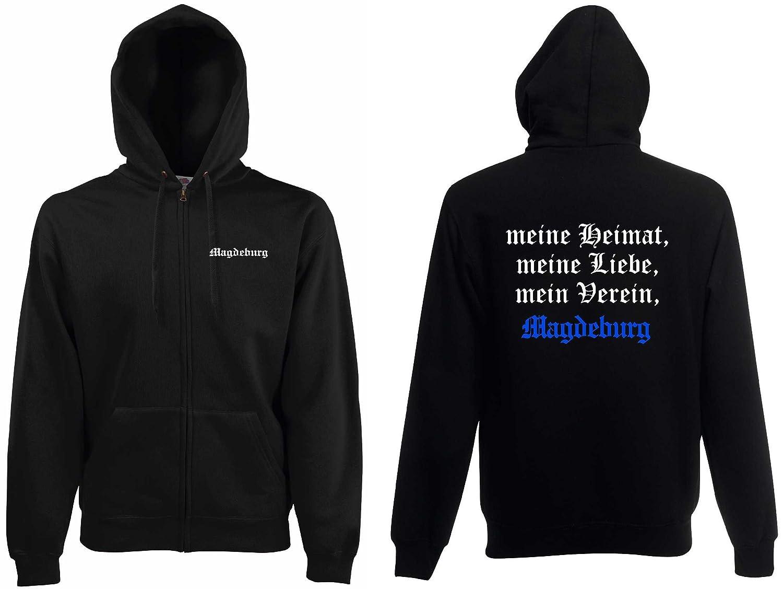 world-of-shirt Herren Kapuzenjacke Magdeburg Ultras meine Heimat