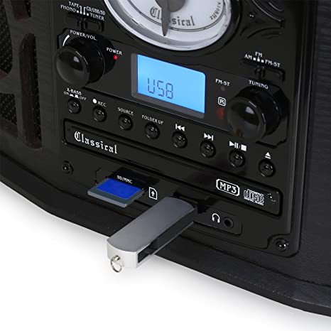 Auna NR-620 Tocadiscos - Reproductor vinilos y CD , Altavoces ...