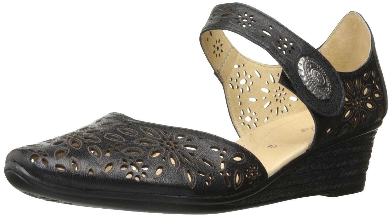 Spring Step Women's Nougat Wedge Sandal B01CJ8FVP4 37 EU/6.5-7 M US|Black