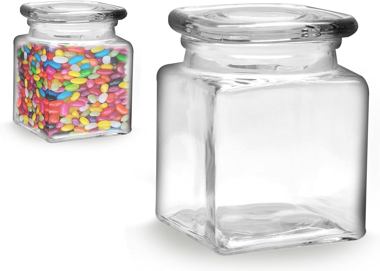 12 ou 24 Crochets 350 ml bocaux-Carré-Incl Couvercle chute verres
